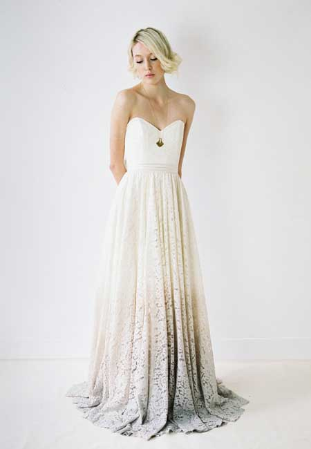 Dip Dye Wedding Dress for your Wedding in Spain - Marbella Wedding Guide