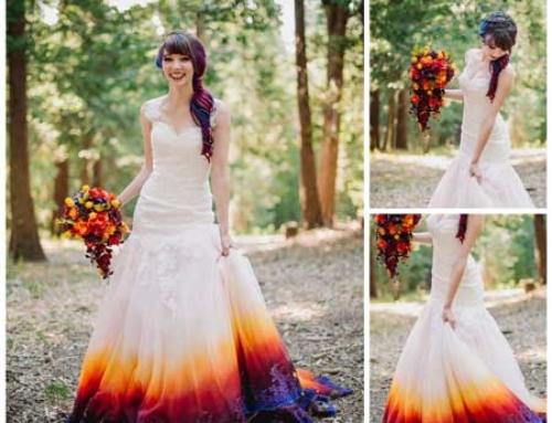 Dip Dye Wedding Dress for your Wedding in Spain